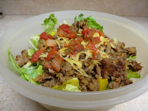 Healthy taco salad is so good it's easy to forget about its fatty twin.