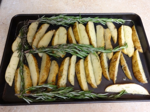 How pretty! Getting ready to go in the oven.