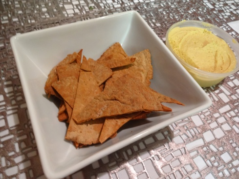Mmm delicious homemade pita chips...