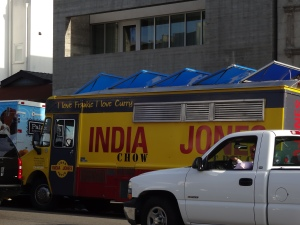 While delicious, food trucks typically aren't to best place to find a healthy snack.
